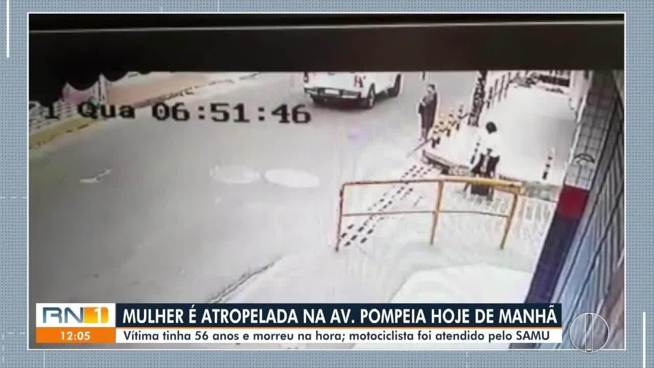 Mulher de 56 anos morre atropelada na Av. Pompeia, em Natal