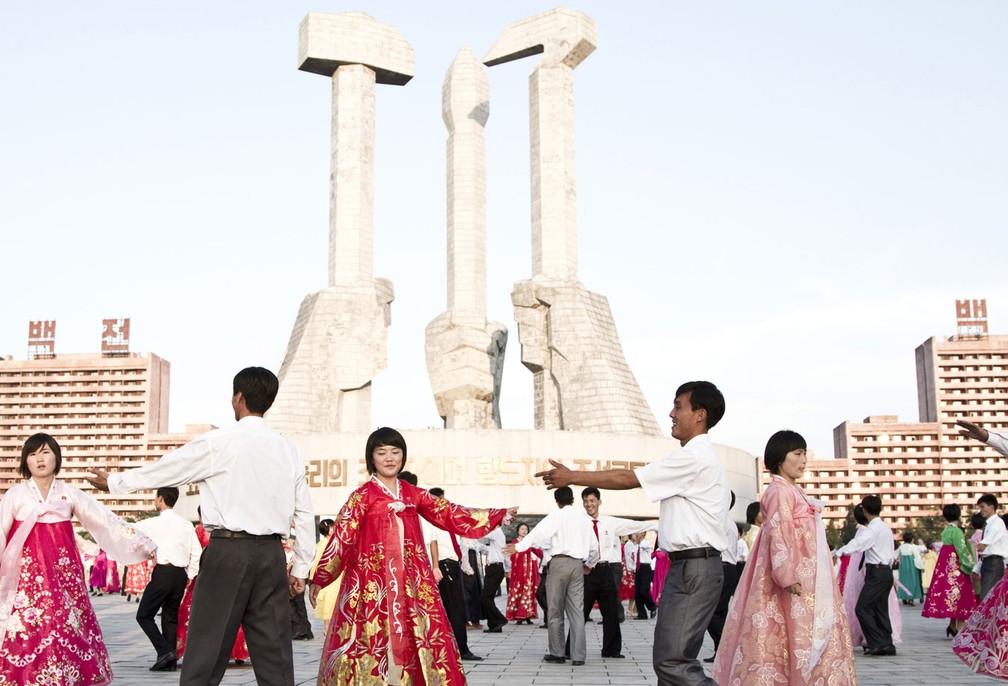 Viajar até Pyongyang, capital da Coreia do Norte, pode não ser difícil, mas é caro (Foto: Gabriel Britto/BBC)
