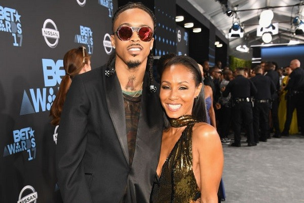 O cantor August Alsina e a atriz Jada Pinkett Smith (Foto: Getty Images)