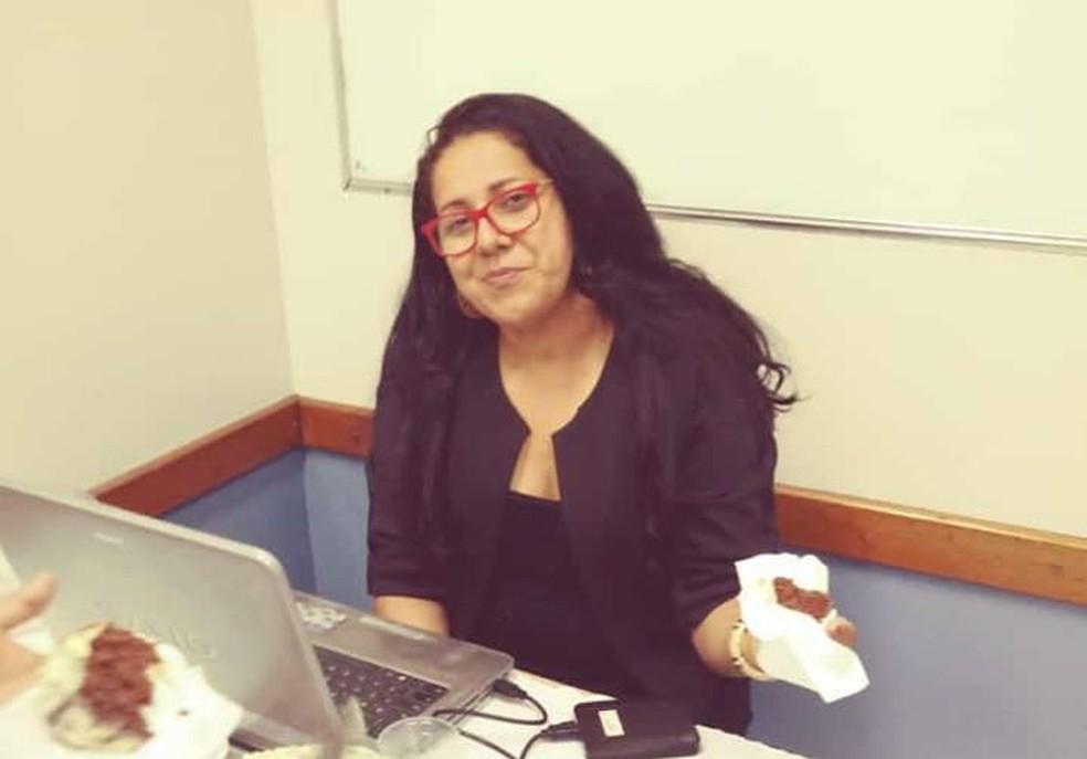 Joselita Felix em sala de aula. — Foto: Facebook/Reprodução