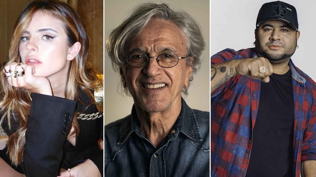 Grammy Latino 2021: Giulia Be, Caetano Veloso e Barões da Pisadinha estão entre brasileiros indicados  — Foto: Reprodução