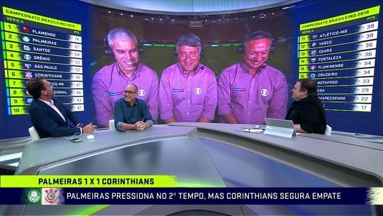 """Ricardinho elogia segundo tempo do Palmeiras, e Paulo Nunes afirma: """"Atropelou o Corinthians"""""""