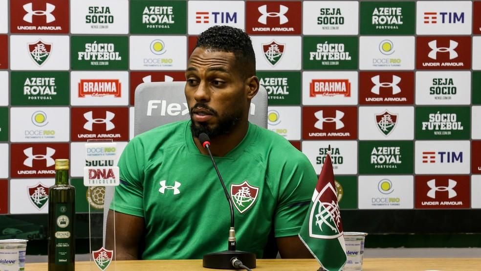 Luccas Claro, zagueiro do Fluminense — Foto: Lucas Merçon