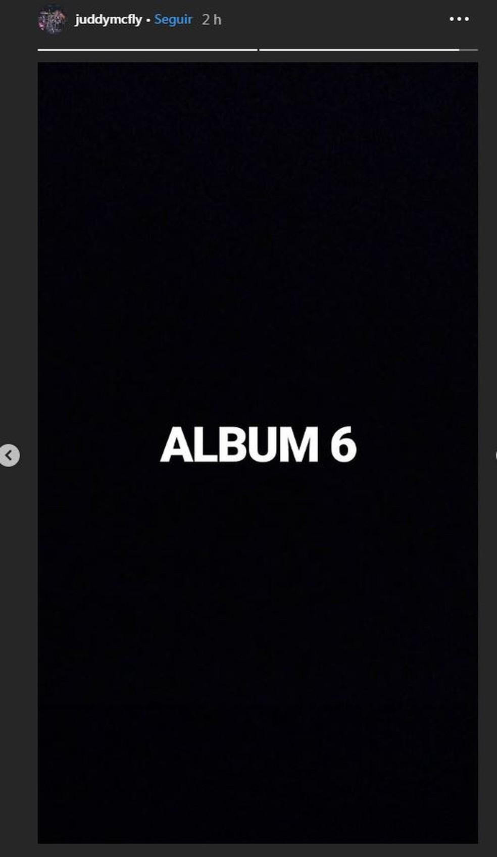 Harry Judd indica em rede social que músicas inéditas do McFly vão compor sexto álbum do grupo — Foto: Reprodução/Instagram