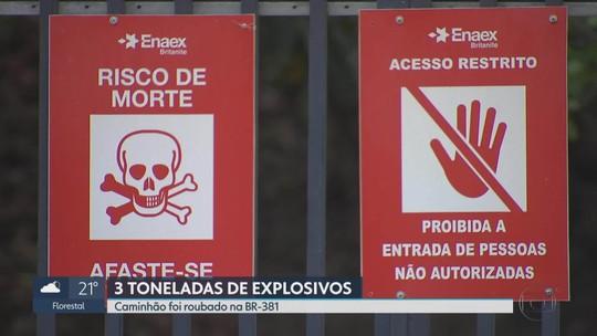 Carga de explosivo roubada em caminhão é localizada na Grande BH