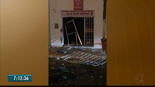 Quadrilha explode banco ao lado de posto policial em Duas Estradas, PB