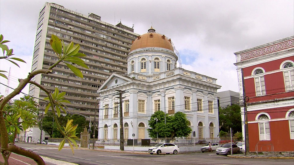 Palácio Joaquim nabuco, onde funcionava a Alepe (Foto: Reprodução/TV Globo)