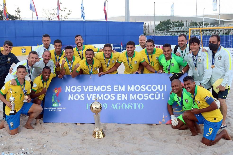 Brasil inicia a busca pelo hexa do Mundial de Futebol de Areia