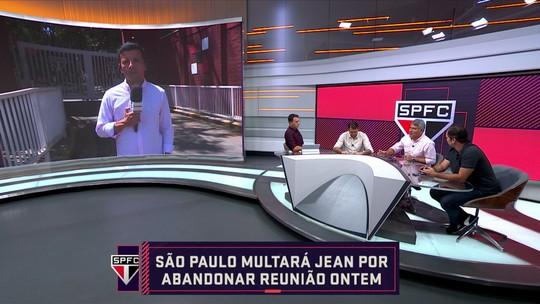 """Comentaristas discutem situação de Jean, do São Paulo, e Caio Ribeiro diz: """"Tem que ser multado"""""""