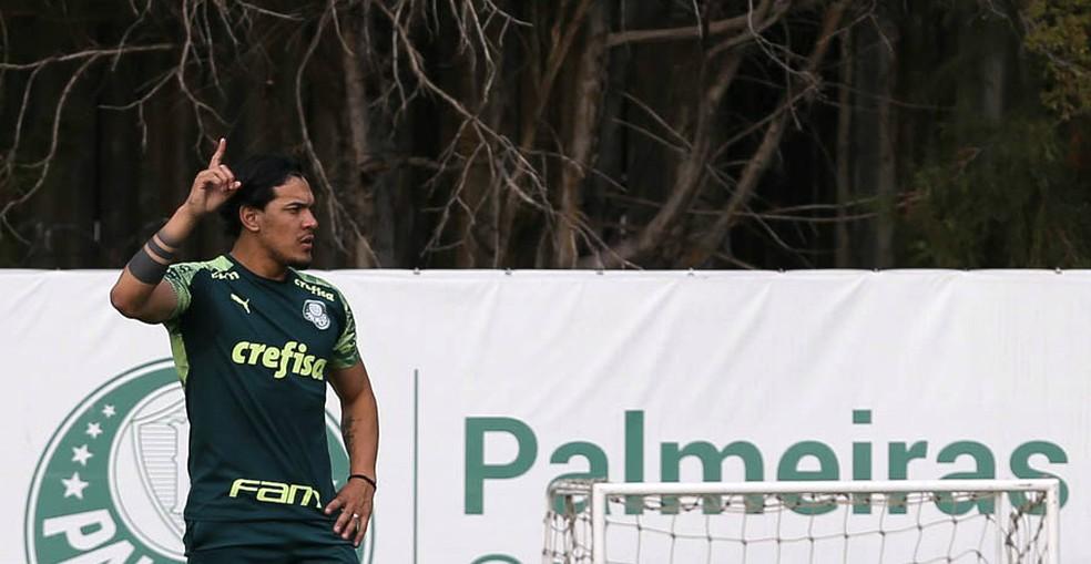 Zagueiro paraguaio vinha sendo desfalque por conta do negócio emperrado — Foto: Cesar Greco/Ag. Palmeiras