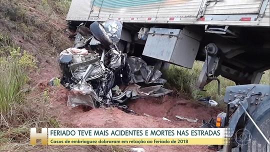 Feriado teve aumento de 13% no número de acidentes em estradas