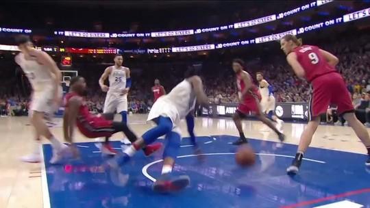 Melhores momentos de Philadelphia 76ers 104x x 91 Miami Heat pela NBA