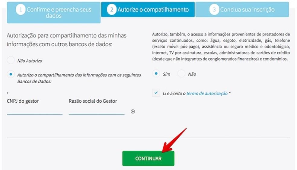 Você pode autorizar as empresas a acessarem o seu cadastro no Consumidor Positivo da Boa Vista (Foto: Reprodução/Helito Bijora)