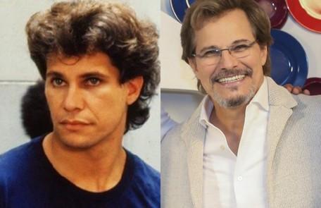 Edson Celulari era o malandro Jorge Miguel, filho de Aldonza (Lolita Rodrigues) e Ricardo (Carlos Zara) e irmão de Tancinha (Claudia Raia). O ator esteve em 'O tempo não para' Reprodução e Reginaldo Teixeira/TV Globo