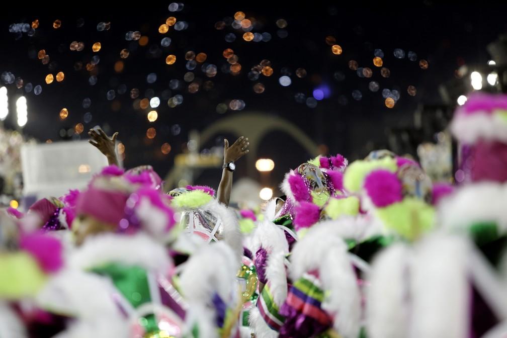 Mangueira no Desfile das Campeãs (Foto: Marcos Serra Lima/G1)