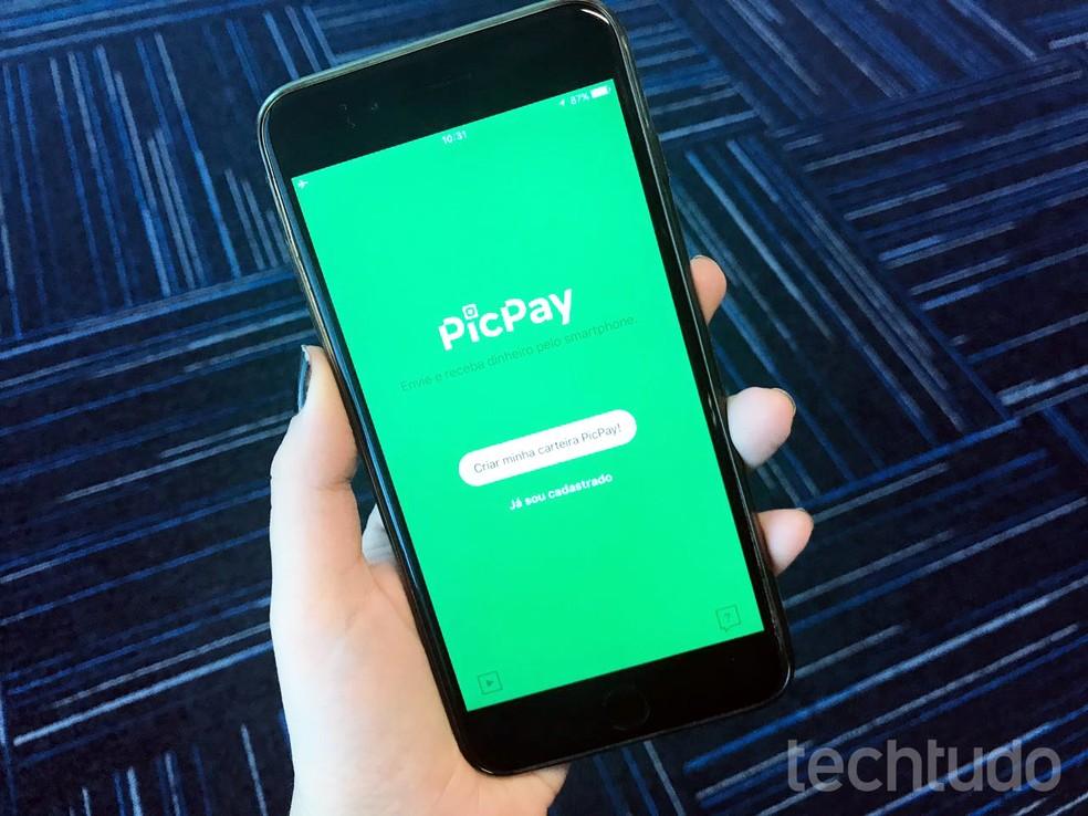 PicPay é uma carteira digital e que possibilita pagamentos pelo app — Foto: Anna Kellen Bull/TechTudo