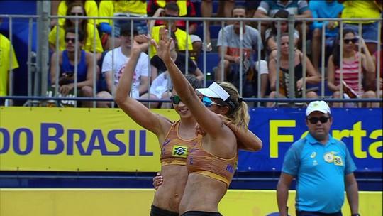 De virada, Maria Elisa/Carol Solberg fatura etapa do Circuito Brasileiro, em Fortaleza
