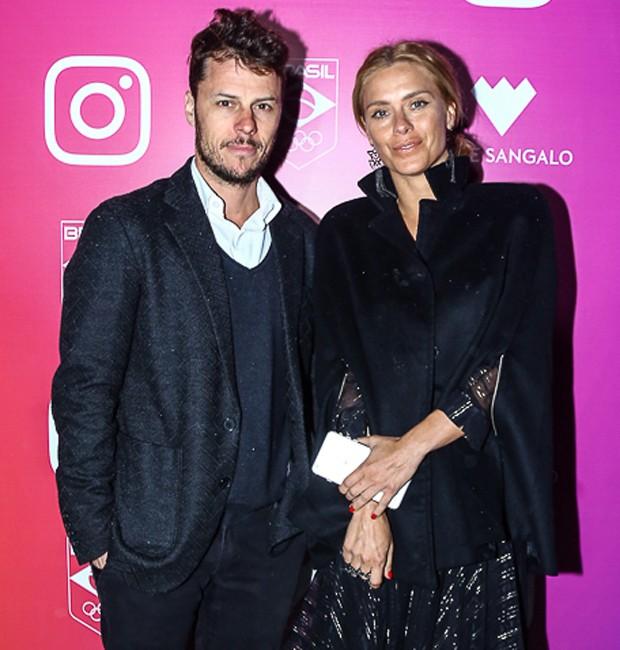 Tiago Worcman e Carolina Dieckmann (Foto: Marcello Sá Barretto / AgNews)