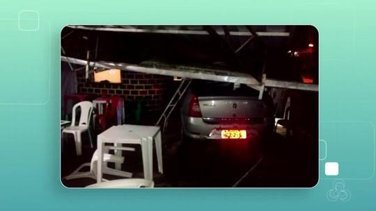 Carro desgovernado invade bar e atropela clientes em Oiapoque, no Amapá
