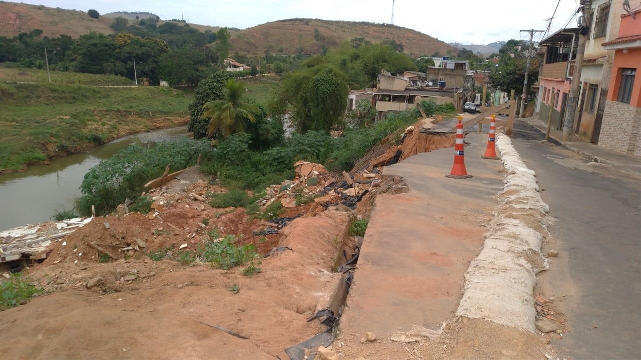 Muriaé inicia processo licitatório para construção de muro de contenção no Bairro Encoberta