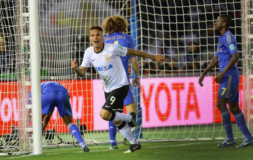 Guerrero gol Corinthians Mundial Chelsea — Foto: Getty Images