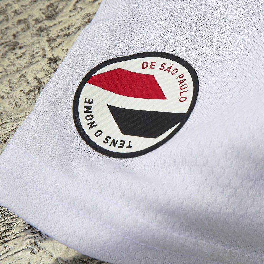 Detalhe da nova camisa do São Paulo — Foto: Thiago Mancini