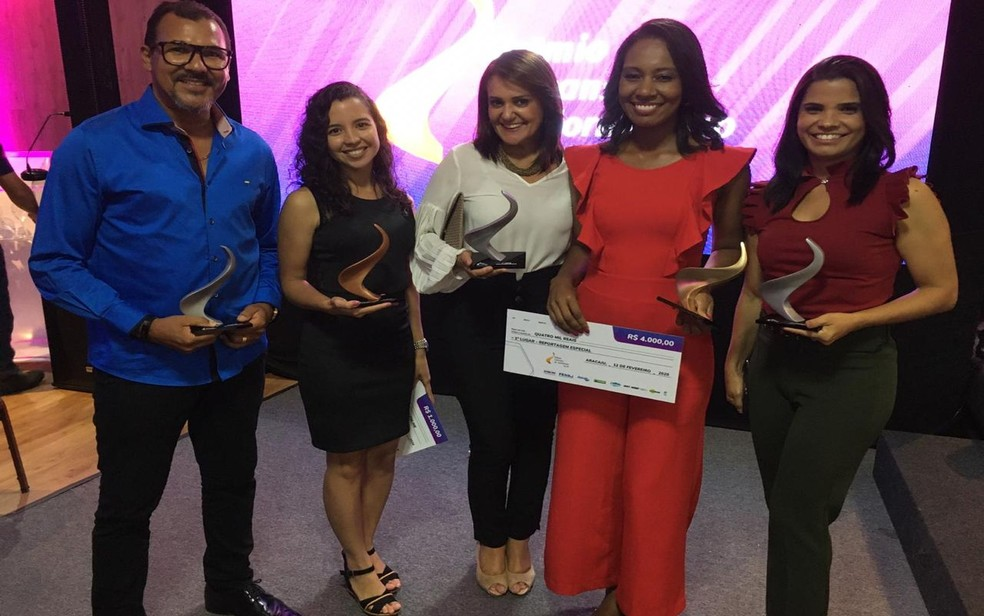 Vencedores do Prêmio Setransp de Jornalismo — Foto: Leandro da Graça/TV Sergipe