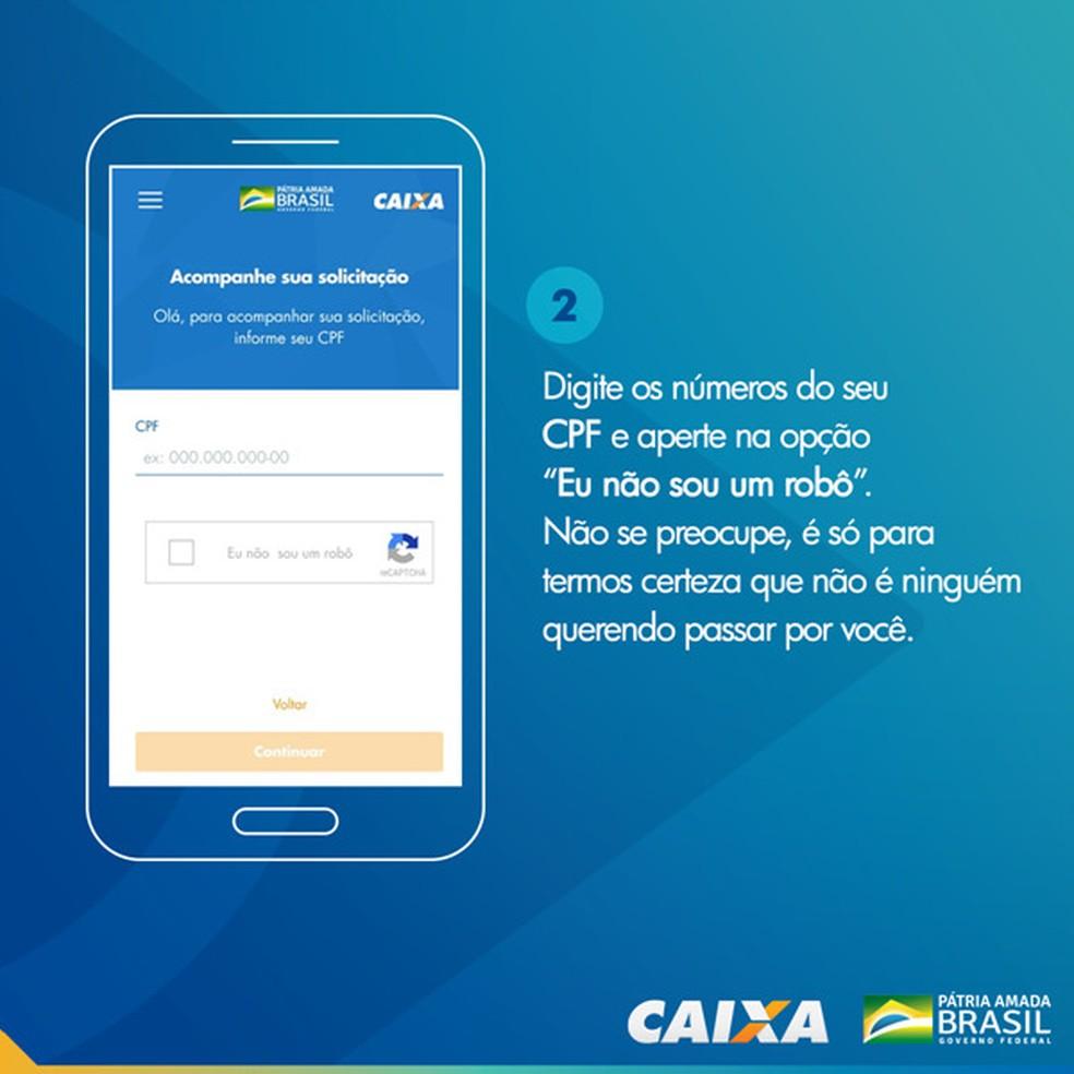 Tela 2 para pedir abertura da poupança social digital — Foto: Divulgação Caixa