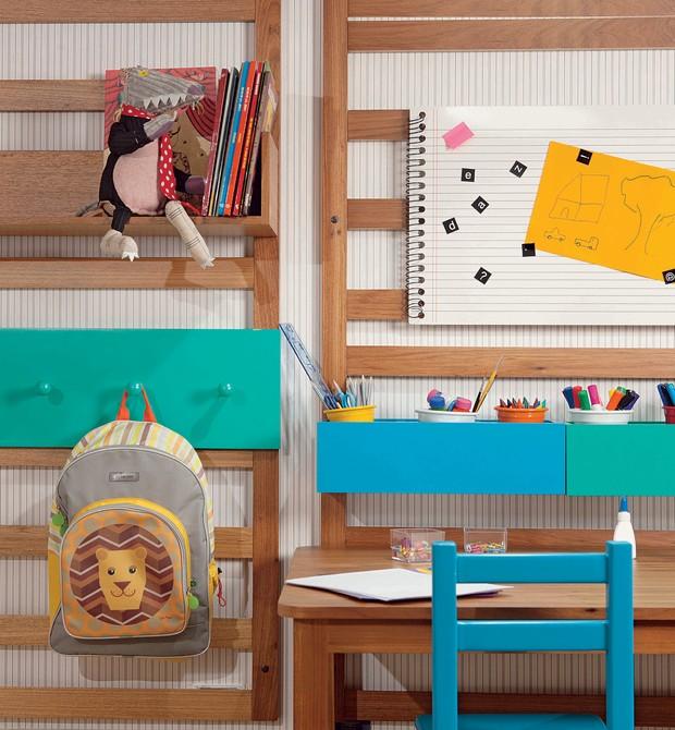 organizacao; escola (Foto: Espaço feito pelos arquitetos Carmen Manor, Fernando Azevedo, Tiza Kann da Mak Interiores para Q&E bebê)