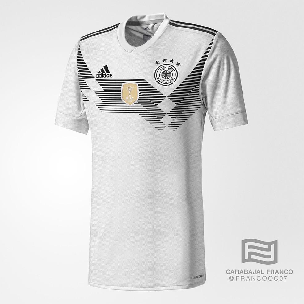 Suposta camisa da Alemanha para a Copa do Mundo (Foto: Reprodução / Todo Sobre Camisetas)