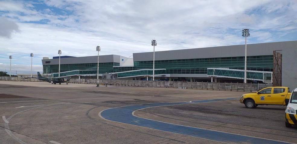 Fachada do novo aeroporto de Macapá, no Centro da capital — Foto: John Pacheco/G1