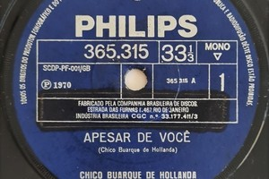 O compacto original com 'Apesar de você' e 'Desalento', de 1970