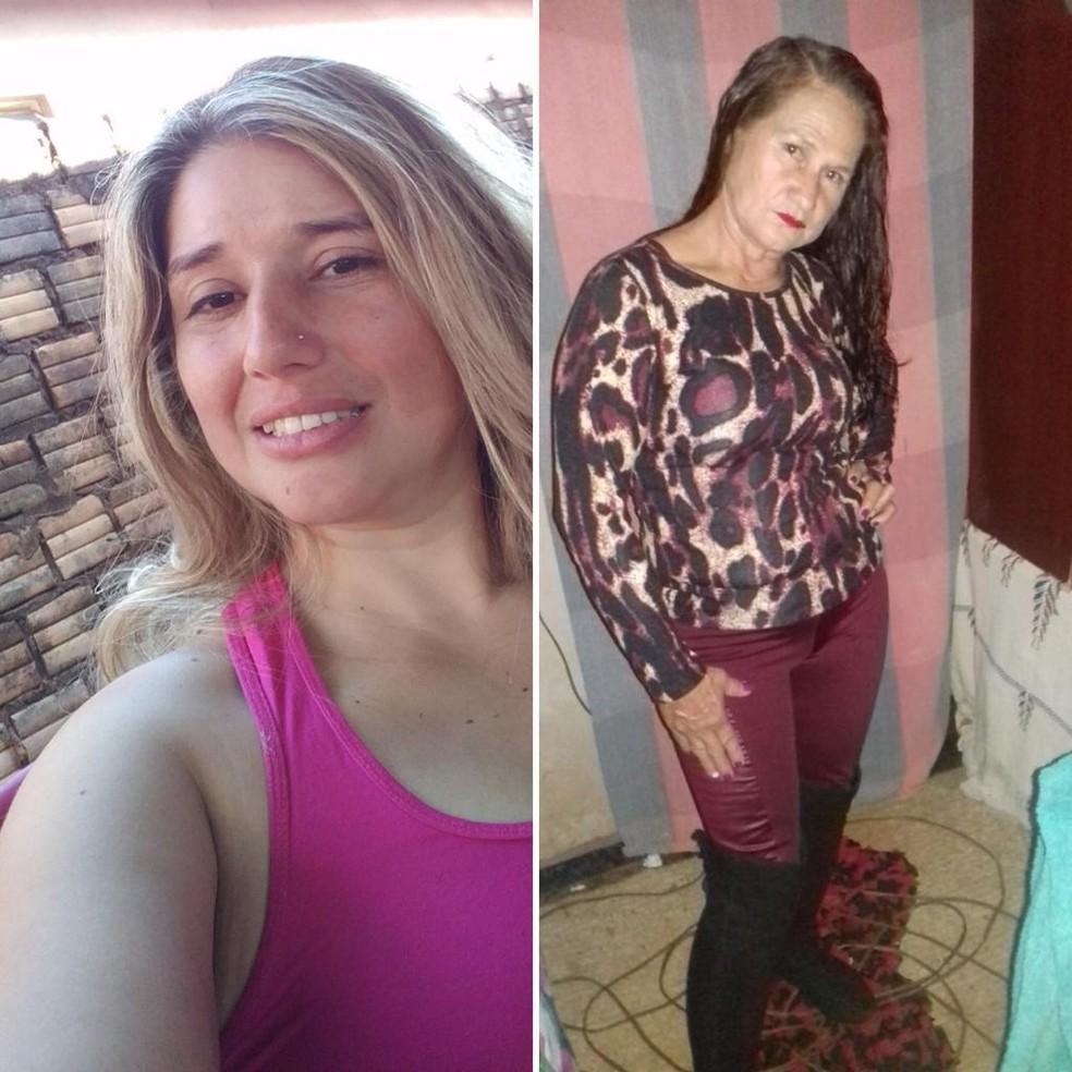 Andréia e Rose foram mortas a tiros; amante da mais velha é o suspeito — Foto: Redes sociais