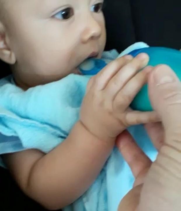 Santiago, o filhinho de Ana Claudia Michels (Foto: Reprodução Instagram)