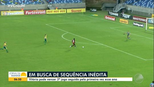 Vitória enfrenta o Criciúma nesta terça-feira e tem desfalque do capitão Baraka