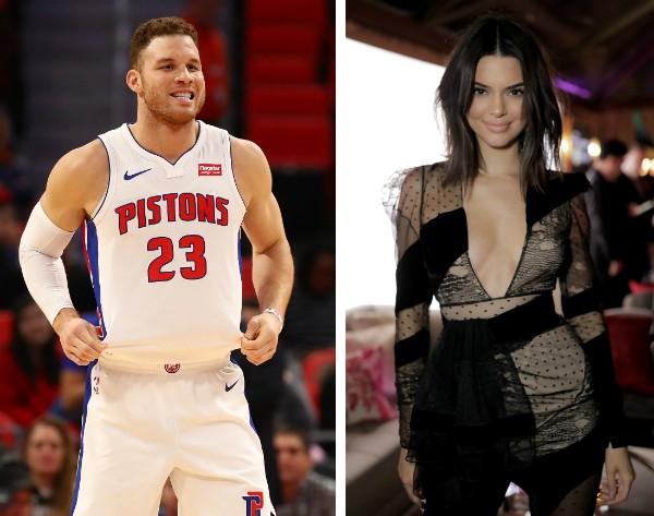 A modelo e socialite Kendall Jenner e o jogador de basquete Blake Griffin (Foto: Getty Images)