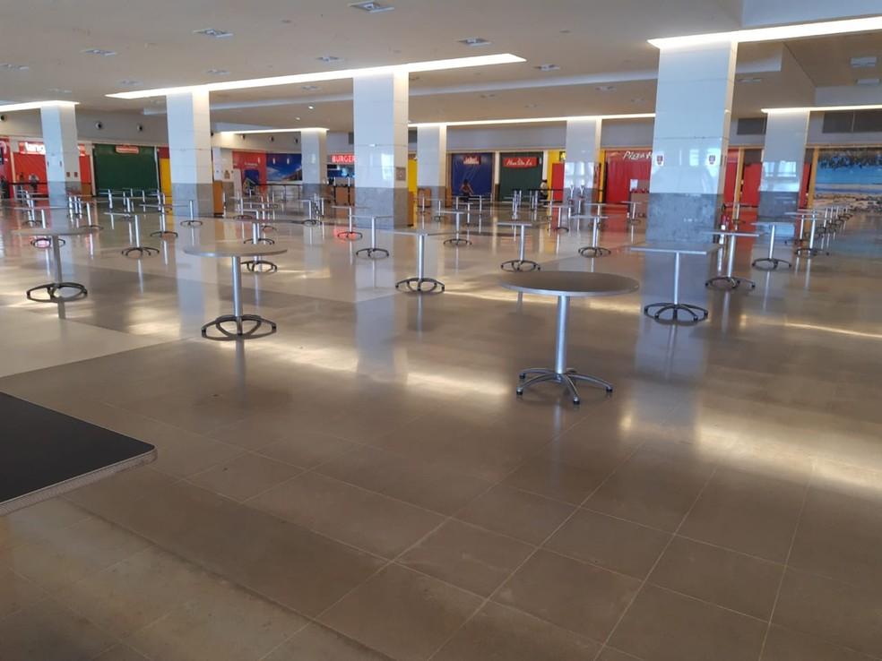 Praças de alimentação de shoppings podem reabrir a partir desta terça (4) em Natal, segundo decreto.  — Foto: Cedida