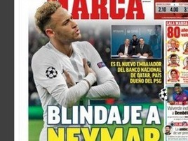 Jornal 'Marca' destaca 'blindagem' do PSG a Ney, sonho do Real (divulgação)