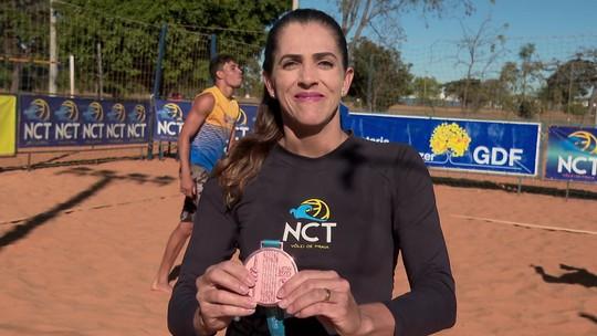 """Tietada, Ângela Lavalle retoma os treinos em Brasília e celebra o bronze no Pan: """"Foi incrível"""""""