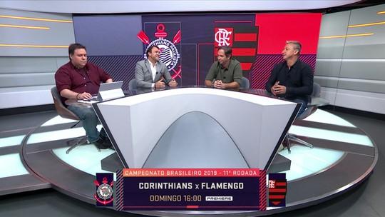 """Seleção SporTV analisa Corinthians x Flamengo: """"Choque de estilos"""", diz Caio Ribeiro"""