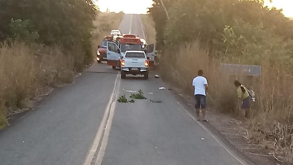 Acidente ocorreu na manhã desta terça-feira (18), na RR-205, em Alto Alegre — Foto: Arquivo pessoal