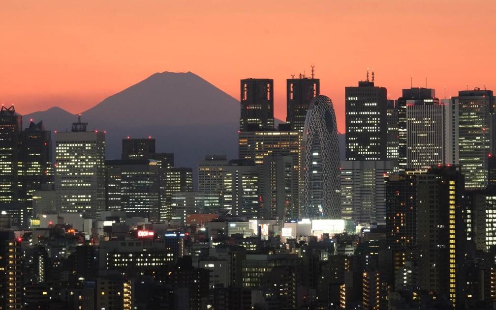 Arranha-céus do bairro de Shinjuku em Tóquio — Foto: Kazuhiro Nogi/AFP
