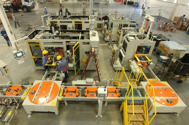 Fábrica de motores da GM em Joinville (Foto: Divulgação)