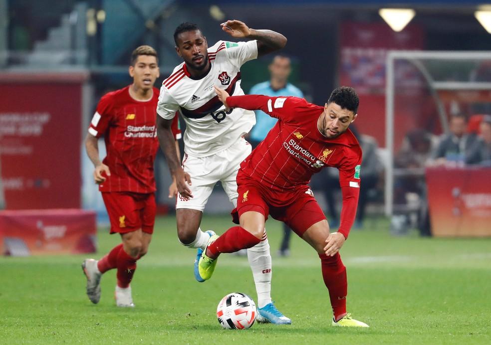 O Flamengo jogou bem, mas perdeu por 1 a 0 para o Liverpool e ficou com o vice-campeonato mundial — Foto: REUTERS/Kai Pfaffenbach