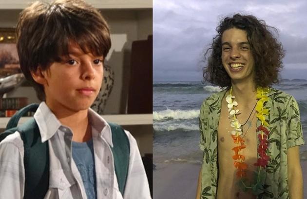 Vitor Colman, o Pedro Jorge de 'Fina estampa', continuou na TV após a novela e esteve em 'Malhação', na Globo, e 'Detetives do Prédio Azul', no Gloob. Agora, com 19 anos, ele também é músico (Foto: TV Globo / Reprodução)