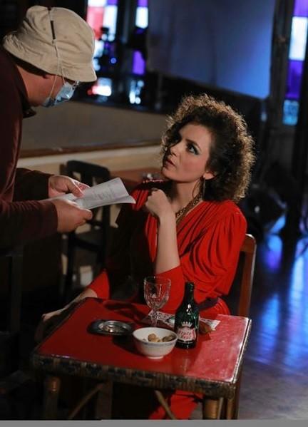 Monica Iozzi e o diretor Jorge Paixão da Costa (Foto: Arquivo pessoal)