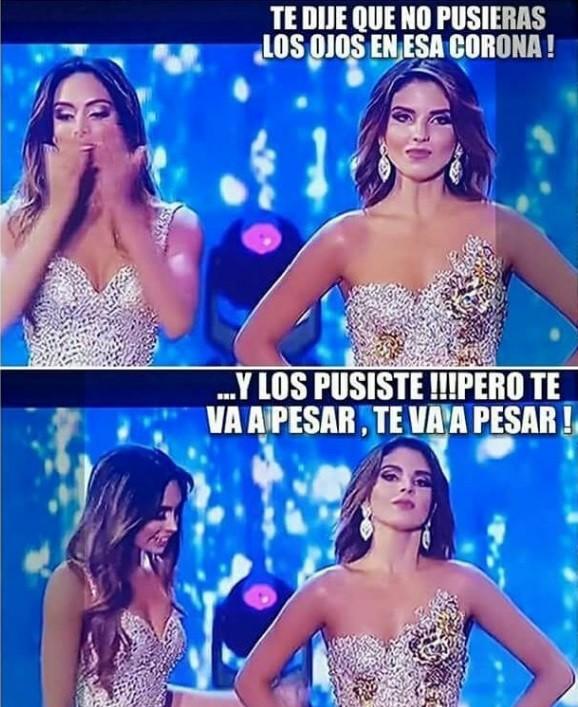 A decepção de Vanessa contrasta com a felicidade da nova Miss Colômbia