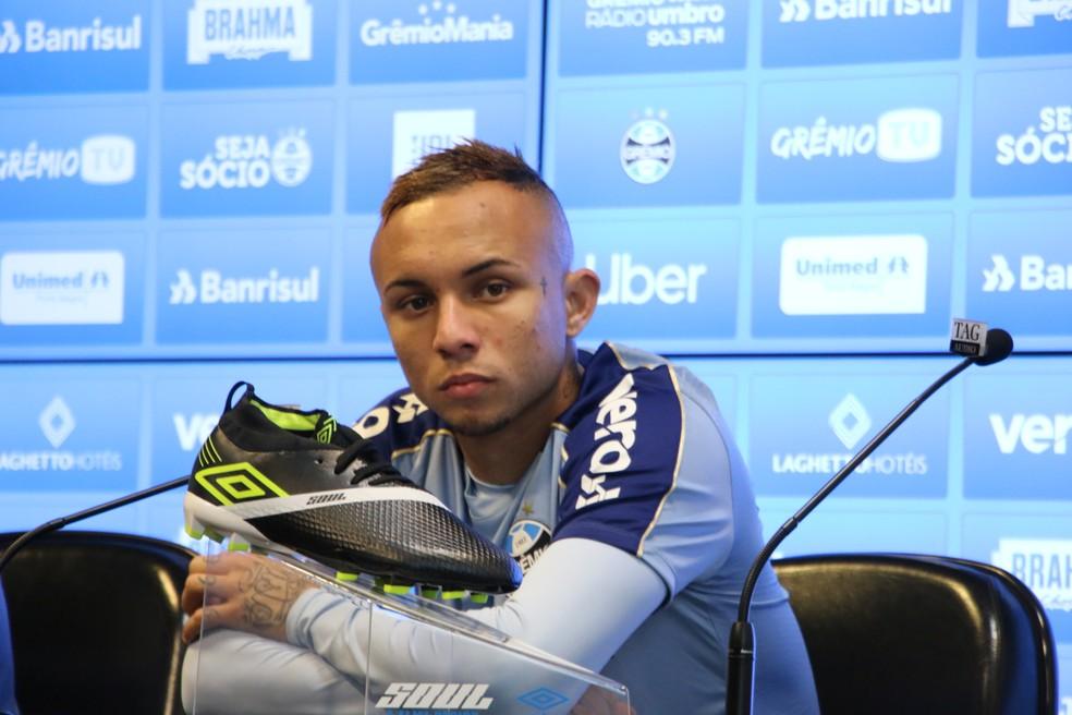 Everton fala sobre postura do Grêmio no Brasileirão — Foto: Eduardo Moura