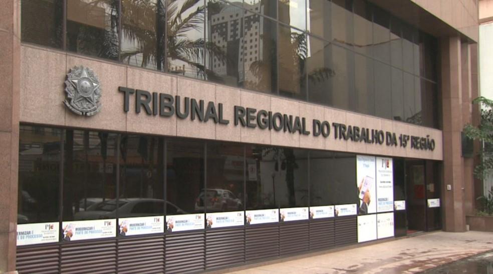 Acordo foi feito na sede do TRT em Campinas (Foto: Reprodução/EPTV)