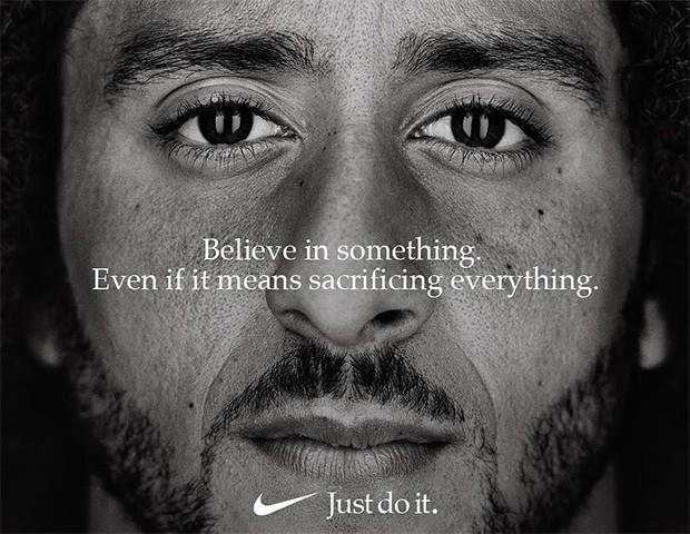 O ad da Nike com Colin Kaepernick (Foto: Instagram / Colin Kaepernick)